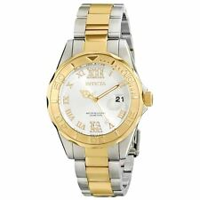 Invicta 12852 Lady's Silver Dial Two Tone Bracelet Crystal Watch