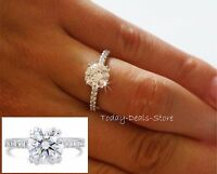 Round cut 2.42 ct engagement ring bridal jewelry anniversary 14k Promise Wedding