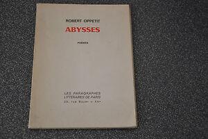 Abysses Robert Oppetit / Signé (J5)