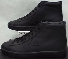 New Mens 12 Converse All Star Player PL 76 Mid Triple Black Leather 155334C $75