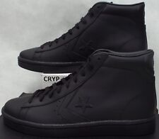 New Mens 11 Converse All Star Player PL 76 Mid Triple Black Leather 155334C $75