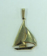 Estate Jewelry 14k Yellow Gold Sailboat Charm Pendant