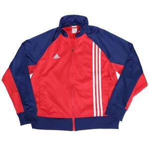 Adidas 2007 Size Medium England Red & Blue Track Soccer Zip Jacket, Pockets