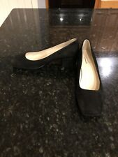 Farylrobin For Anthropologie Black Low Pumps, Size 40/9.5, New!