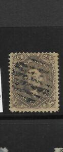 US Scott #78a used 24c grayish lilac Washington bank note 1862, f/vf sound