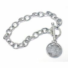 NEW  Year to Remember Sterling Silver Toggle Dime Coin Bracelet 1979