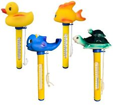 More details for floating thermometer for swimming pool pond hot tub water duck turtle whale fish
