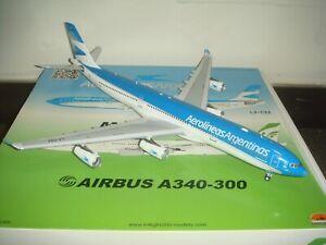 """Inflight 200 Aerolineas Argentinas A340-300X """"2010s color"""" 1:200 DIECAST"""