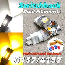 Front Turn Signal Switchback V2 LED T25 3057 3157 4157 W1 No Error White Amber A