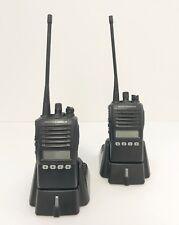 VERTEX STANDARD VX-354 UHF PORTABLE 2-WAY Radios w/Whip - (Pair)