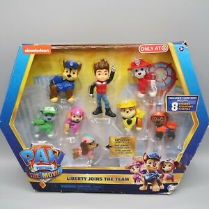 Paw Patrol The Movie 8 Figure Set Includes Exclusive Liberty