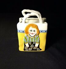 "Susan Paley By Ganz ""ABBY"" Purse Vase/Planter"