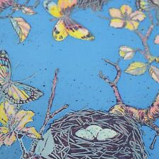 Vintage 80s wrapping paper gift wrap 2 different butterfly designs