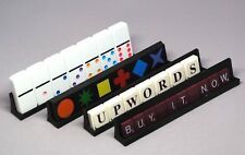 Set-4 Black - Tournament Jumbo Domino Qwirkle Scrabble Upwords, Tile Tray Holder