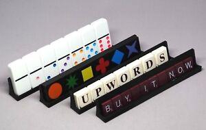 Set-4 Black - Tournament Jumbo Domino Qwirkle Scrabble Upwords, Tile Tray Holder