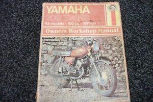 Haynes Manual - YAMAHA 200 Twins. All Models. 195cc. 1971 on.