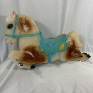 Vintage Pony Spring Rocking HorseOnly Bouncy Blow Mold Blue HTF