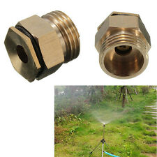 "1/2"" Brass 360° Adjustable Atomizing Lawn Mist Sprinkler Patio Spray Nozzle  AU"