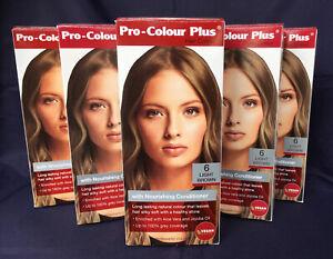 5 x Pro Colour Plus Permanent Hair Dye Colour Light Brown Vegan Friendly