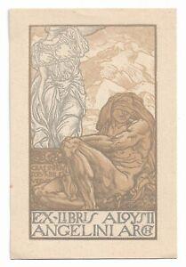 ANTONELLO MORONI: Exlibris für Aloysii Angelini Arch, 1916