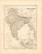 1868  ANTIQUE MAP -  INDIAN EMPIRE, EAST INDIES