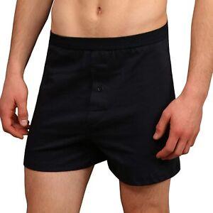 Men Comfy Underwear Boxer Shorts Loose Fit Soft Touch Cotton Rich Button Fly