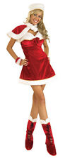 Sexy Lady SANTA INSPIRATION COSTUME Outfit Dress Cape Hat Boot Adult Medium 8 10