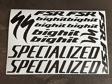 SPECIALIZED BIGHIT FSR Cycling Stickers Decals Set Bike Frame Fork MTB Road