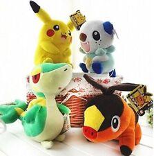 Pokemon plush toy pikachu Oshawott Snivy Tepig soft collect doll toys 4Pcs/Set