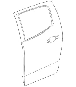 Genuine GM Outer Panel 23360178