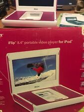 Memorex Pink  White iFlip 8.4-Inch Portable Video System for iPod