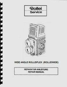 Rollei Wide Angle Rolleiflex (Rolleiwide) Service & Repair Manual Reprint