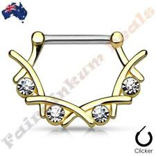 Cubic Zirconia Nipple 14g (1.6 mm) Body Piercing Jewellery