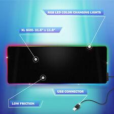 Bugha exclusivo RGB LED PC para juegos mousepad 31.5in X 11.8in ratón MAT alimentado por USB