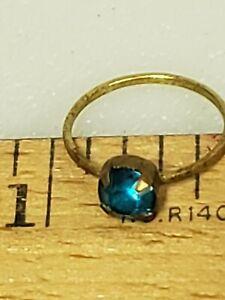 Glass  Toy Ring Child Prize Jewelry Czechoslovakia Vintage