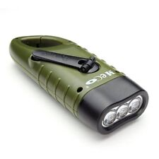 Simpeak LED Taschenlampe Handkurbel Solar Dynamo Karabiner wiederaufladbare Schw