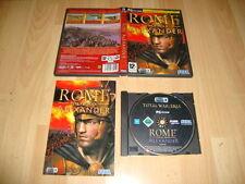 ROME TOTAL WAR ALEXANDER EXPANSION DE PC DE SEGA USADO COMPLETO Y MUY NUEVO