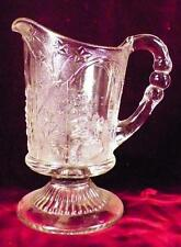 Canadian Creamer Early American Pattern Glass Antique 1870s Clear