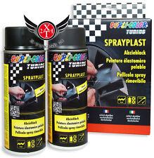 2 x 400ml SPRAY-PLAST Sprayplast Abziehlack Sprühfolie SCHWARZ-Matt 388101 DUPLI