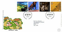 7 SEPTEMBER 1999 FARMERS TALE ROYAL MAIL FIRST DAY COVER BUREAU SHS