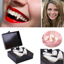 Fancy Dress Vampire Teeth Denture Fangs Bites Costume Party Halloween Props 4X
