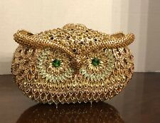 NATASHA Couture Crystal OWL Clutch Handbag NEW in Box Minaudière