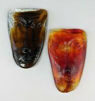 Erik Hoglund Kosta Boda Style Jaramillo Bro. Art Glass Face Mask Set