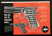 Colt Government .45 Automatic Pistol M1911A1 1951 cutaway graphic pictorial