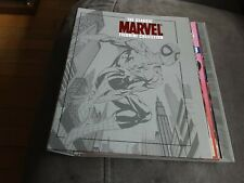 The Classic Marvel Figurine Collection Folder Binder By Eaglemoss plus 7 mags