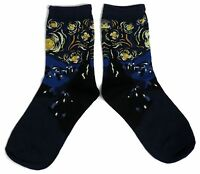 LADIES VAN GOGH STARRY NIGHT ART STUDENT ARTIST STUNNING SOCKS ONE SIZE FITS ALL