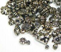 Acryl Perlen Spacer 50g Gemischt Tibet Silber Metall Auftritt Kunststoff D118