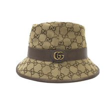 GUCCI GG SUPREME CANVAS BUCKET HAT BEIGE M