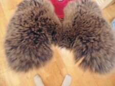 New Real Grey Fox Fur Gloves Mittens Soft and Furry With Hanging Chain