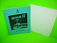 Atari SHOWCASE 33 Original 1993 Video Arcade Game Cabinet Manual w/ Template